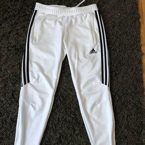 White Adidas Pants